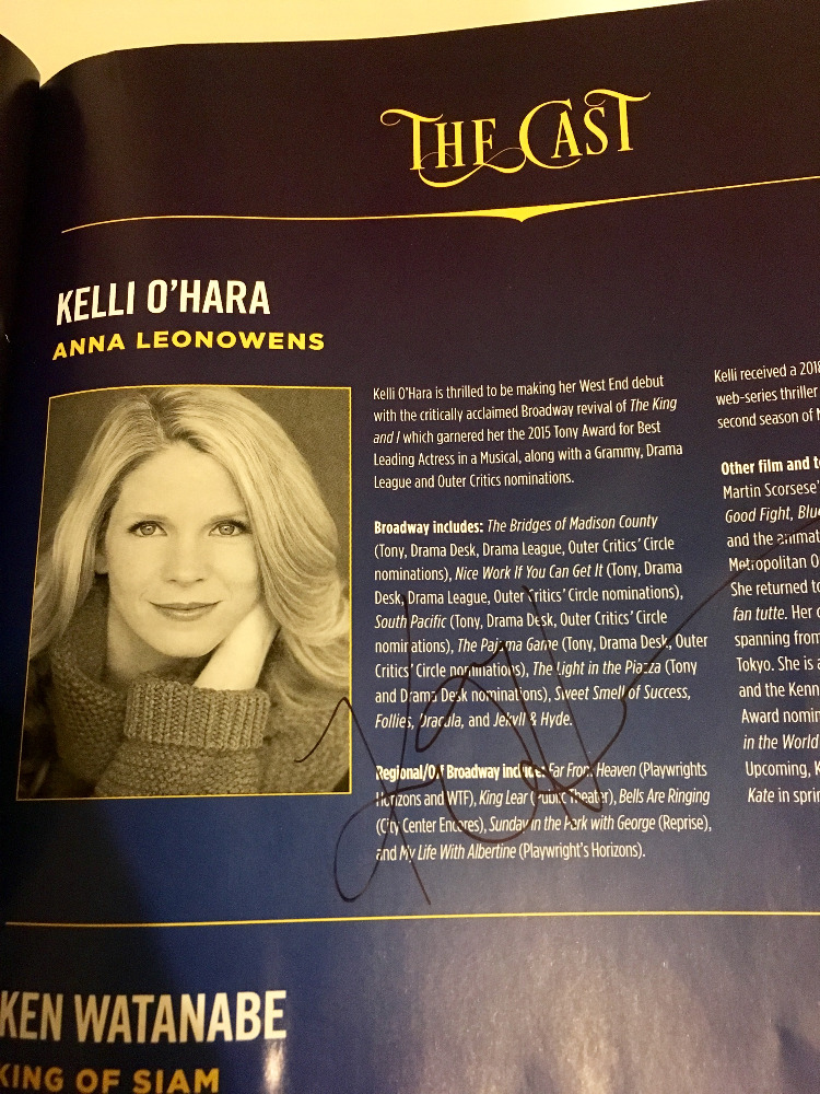 Signature from Kelli OHara
