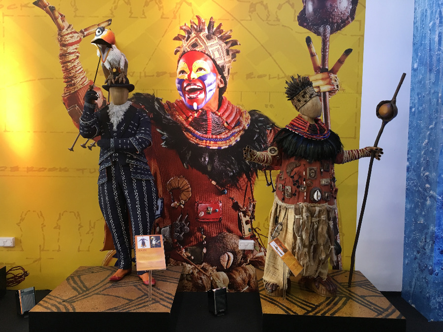 Disney Summer Pop Up Exhibition - Costumes from The Lion King West End Musical
