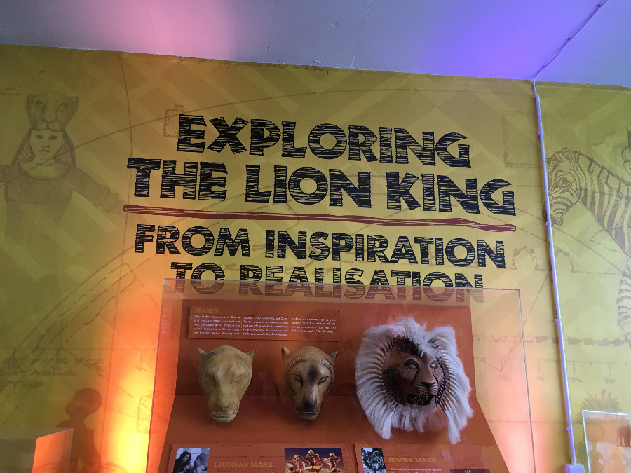 Disney Summer Pop Up Exhibition - Masks from The Lion King West End Musical