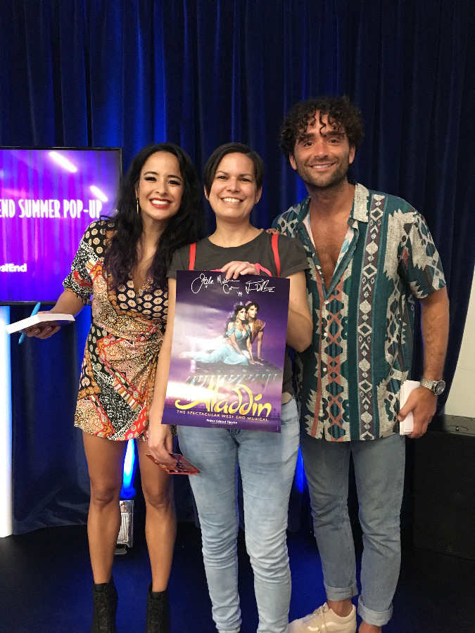 Disney Summer Pop Up Exhibition - Photo with Aladdin and Jasmine from West End Aladdin Musical