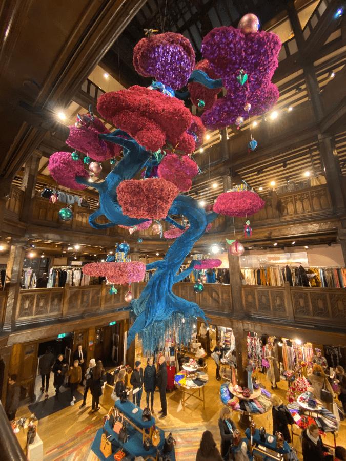 Christmas tree at Liberty London