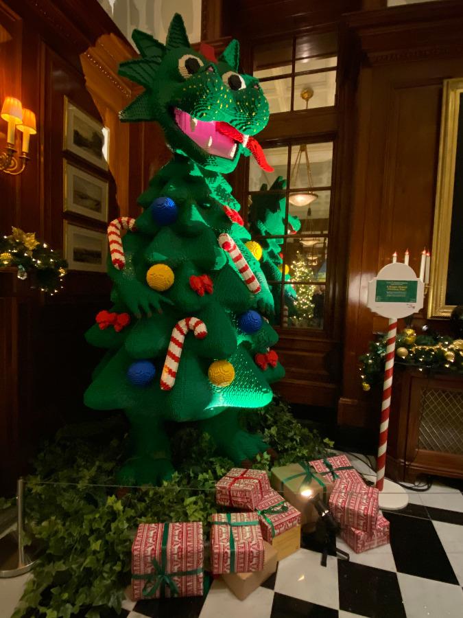 Dragon Christmas Tree at Savoy Hotel