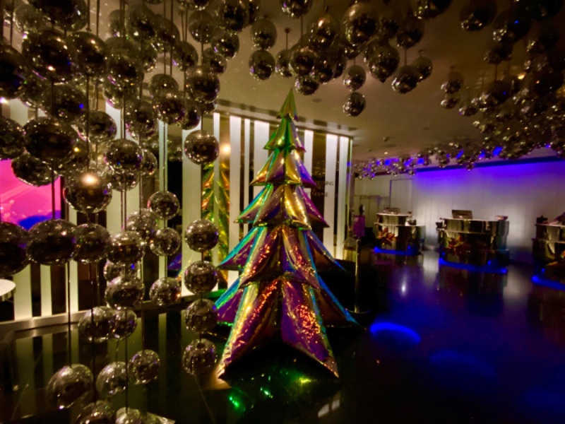 Inflated Christmas Tree at W Hotel