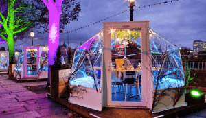 Jimmy's Lodge Winter Pop Up Igloos