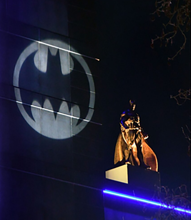 Batman comes to life after dark - celebrating a century of cinema at Leicester Square