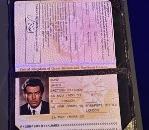 Driving licences and passport of two iconic James Bond - Pierce Brosnan