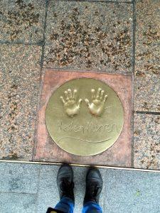 Helen Mirren's hand print