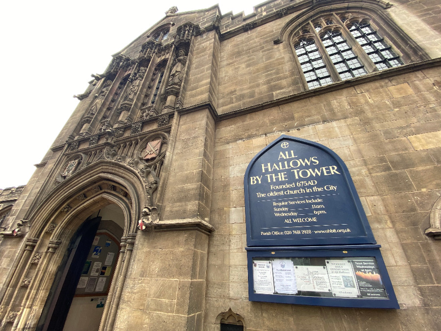 London's Oldest Church - All Hallows By The Tower- All Hallows By The Tower