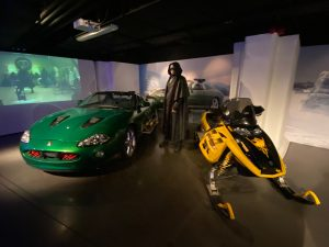 Zao's original villain costume and vehicles from Die Another Day