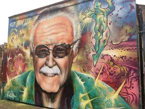 Graffiti of Stan Lee Brick Lane