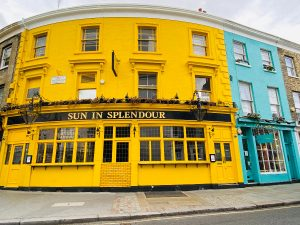 A Yellow Pub in Notting Hill