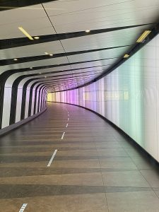 Colourful King's Cross Light Tunnel