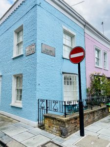 Colourful corner house Notting Hill