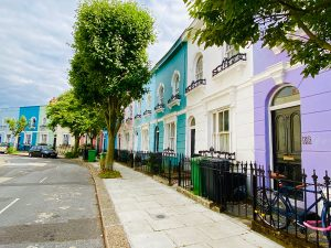 Colourful terraced house - Kelly Street
