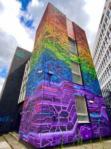 Rainbow building - Shoreditch