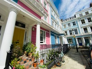 The colourful buildings of Chalcot Square