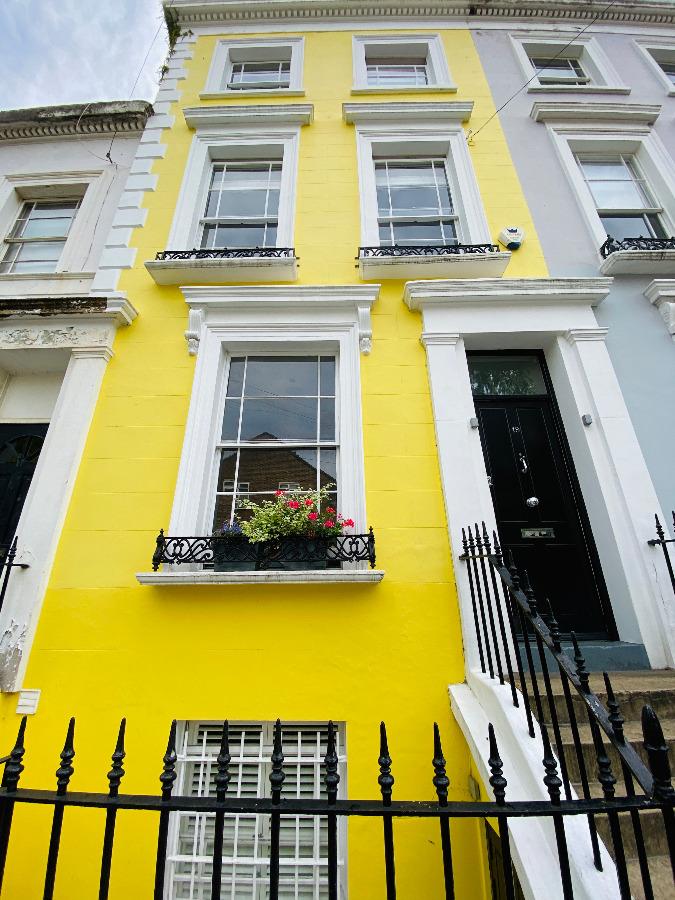 Pink house on Denbigh Terrace Notting Hill