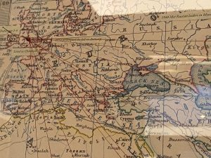 Map that shows Churchill's travels - The Churchill Bar London
