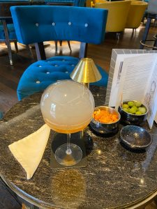 Themed cocktail at The Churchill Bar
