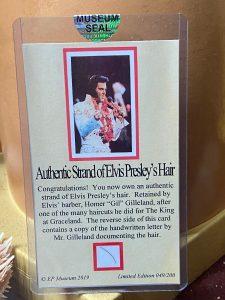 Elvis Presley's Hair at Museum of Curiosity