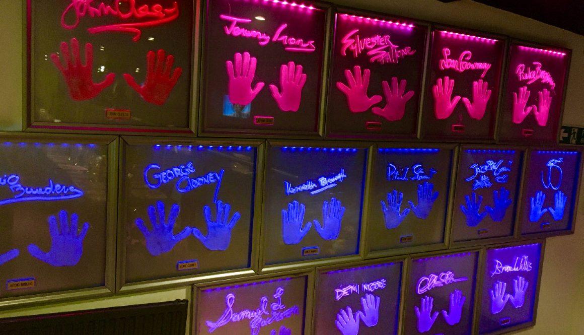 Planet Hollywood London Handprint Wall