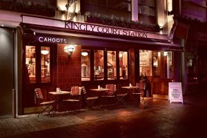 Cahoots' Outside Seating Area