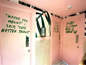Cheeky Instagrammable Powder Room at DUO London