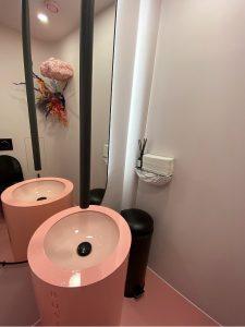 Pink Powder Room at BUSI Cafe