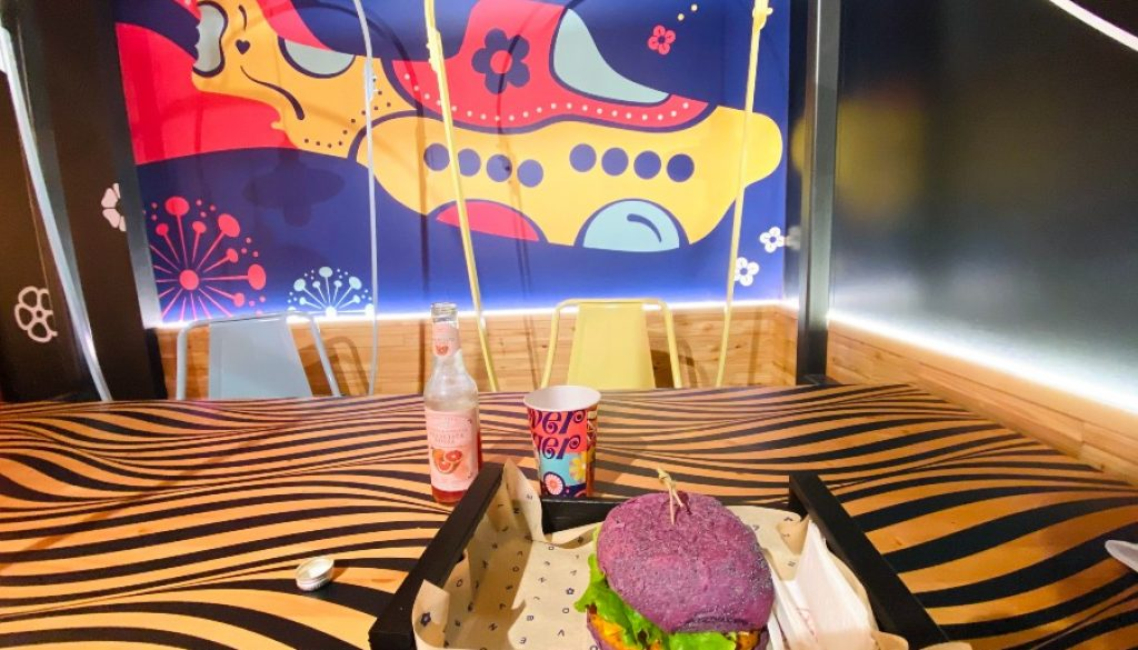 Vegan Rainbow Burger at Flower Burger