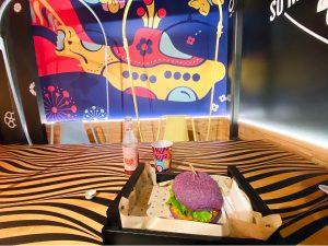 Rainbow Burger at Flower Burger