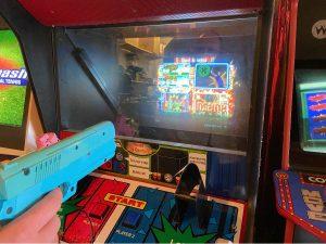Retro Arcade Cabinet in Four Quarters Bar