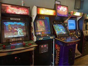 Retro Arcade Games in Four Quarters Bar