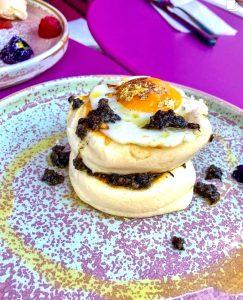 24k Gold Japanese Pancake at Coffee Addict
