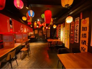 Shuchu booths in Heddon Yokocho London