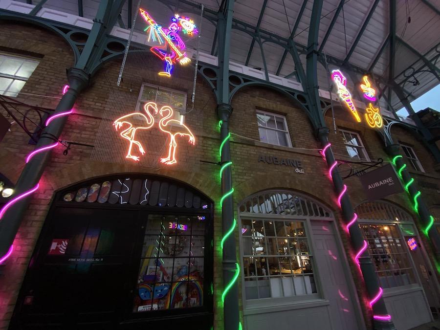 Neon Installations is Covent Garden